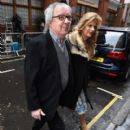 Bill Wyman and Suzanne Wyman leave after the wedding of Jerry Hall to Rupert Murdoch at St Brides Church, Fleet Street, on March 5, 2016 in London, England - 400 x 600