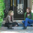 Mae Whitman as Taylor Rockefeller with Halley Rachal as Mr. Joyce's Class in Lifetime Television 'Acceptance.'