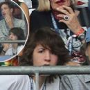 Sir Mick Jagger and his lookalike son Lucas join the rocker's other children Lizzie and James as they watch Portugal claim victory in EURO 2016 Final - 454 x 273