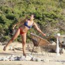 Lily Allen in Bikini on the beach in Ibiza - 454 x 308