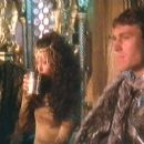 Nigel Terry as Arthur,Cherie Lunghi as Guinevere and Nicholas Clay in Excalibur (1981) - 454 x 253