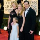 Melanie Griffith, Antonio Banderas, Dakota Johnson and Stella Banderas - The 61st Annual Golden Globe Awards - Jan. 2004 - 454 x 684