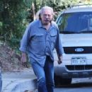 Edward James Olmos shops for properties in the Hollywood Hills, California with family on January 29, 2014 - 454 x 581