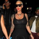 Amber Rose Attends French Montana's Birthday Party at 1OAK nightclub in West Hollywood, California - November 10, 2015 - 454 x 597