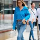 Gigi Hadid – Heading out for an iced coffee in NYC