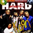 Jonathan Davis, Fieldy, James 'Munky' Shaffer, Brian 'Head' Welch, David Silveria - Hard Force Magazine Cover [France] (December 1998)