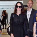 Asia Argento Arriving at Airport in Nice - 454 x 923