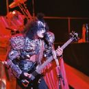 Gene Simmons performs  during the Unmasked Tour/New York City ⚡️ the Palladium, NYC on July 25,1980