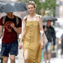 Carey Mulligan in Yellow Summer Dress – Out in NYC - 454 x 678