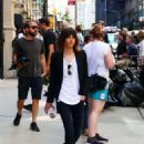 Katherine Moennig and Liev Schreiber – Filming 'Ray Donovan' in NYC - 454 x 585