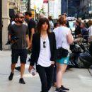 Katherine Moennig and Liev Schreiber – Filming 'Ray Donovan' in NYC