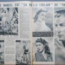Denise Darcel - Cinemonde Magazine Pictorial [France] (31 July 1951) - 454 x 340