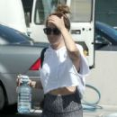 Ashley Tisdale Leaves the gym in West Hollywood