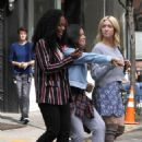 Brittany Snow DeWanda Wise and Gina Rodriguez – On the Set of 'Someone Great' in NY - 454 x 612