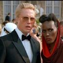 Grace Jones and Christopher Walken