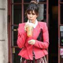 Kourtney Kardashian: made a pitstop at a Calabasas Starbucks