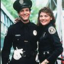 Steve Guttenberg and Kim Cattrall in Police Academy (1984)
