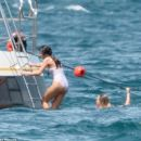 Selena Gomez on a Yacht In Saint-Tropez, France July 21,2014
