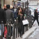 Salma Hayek shopping in Paris, France, February 14, 2011