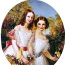 Portrait of Alexandra and Dagmar. Later Queen Alexandra of Great Britain and Empress Marie Feodorovna of Russia