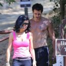 Colin Farrell Takes A Hike With Mystery Woman