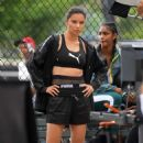 Adriana Lima on a Shoots for Puma in Soho in New York City