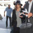 Eva Longoria is seen at LAX October 17, 2016