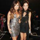 Demi Lovato and Selena Gomez At The 2011 MTV Video Music Awards - Arrivals - 392 x 594