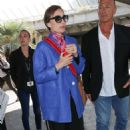 Kristin Scott Thomas Arrives at Nice airport in Cannes - 454 x 681
