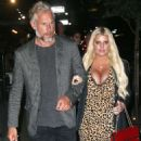 Jessica Simpson in Leopard Print Dress – Out in New York City - 454 x 570