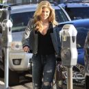 Annalynne Mccord in Ripped Jeans Out in Beverly Hills