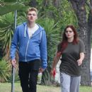 Ariel Winter and Levi Meaden out in LA