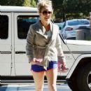 Britney Spears In Shorts At Equinox Gym In Westlake Village