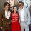 Lily Collins and Jamie Campbell Bower at the premiere of
