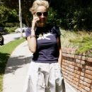 Sharon Stone Strolling And Talking On The Phone In Los Angeles, 2008-09-01