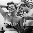 Robert Mitchum and Rita Hayworth