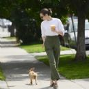 Willa Holland with her dog in Los Angeles - 454 x 466