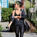 Sarah Hyland in Leggings and Sports Bra – Out in Los Angeles