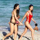 Julia Pereira and Daniela Albuquerque in Bikini in Miami - 454 x 503