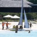 Alex Rodriguez and Jennifer Lopez – Pictured at the beach in Turks and Caicos