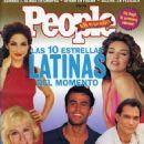 Jimmy Smits, Enrique Iglesias, Gloria Estefan, Cristina Saralegui, Thalía - People en Espanol Magazine Cover [Mexico] (September 1996)