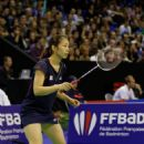 Female badminton players