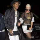 Amber Rose and Wiz Khalifa at Blok Nightclub in Hollywood, California - November 22, 2013