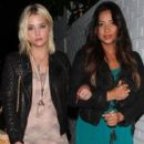 Shay Mitchell and Keegan Allen all have a night out together at hot spot Chateau Marmont in West Hollywood