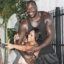 Nikki (Hoopz) Alexander and Shaquille O'Neal