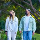 Joe Jonas and Sophie Turner – Seen while walk around the neighborhood in Los Angeles