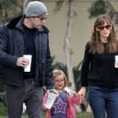 Jennifer Garner and Ben Affleck taking Seraphina to breakfast in Santa Monica (October 25)