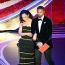 Tessa Thompson and Michael B. Jordan at the 91st Annual Academy Awards - Show - 424 x 600