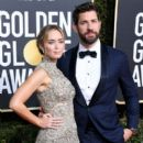 Emily Blunt and John Krasinski At The 76th Golden Globe Awards - Arrivals (2019)