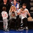 Shakira and Gerard Pique Attend The New York Knicks Vs Philadelphia 76ers Game - 454 x 325